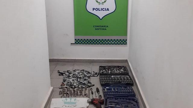 Barrio San Roque: robó herramientas de un taller mecánico y lo atraparon - Telefe Bahia Blanca