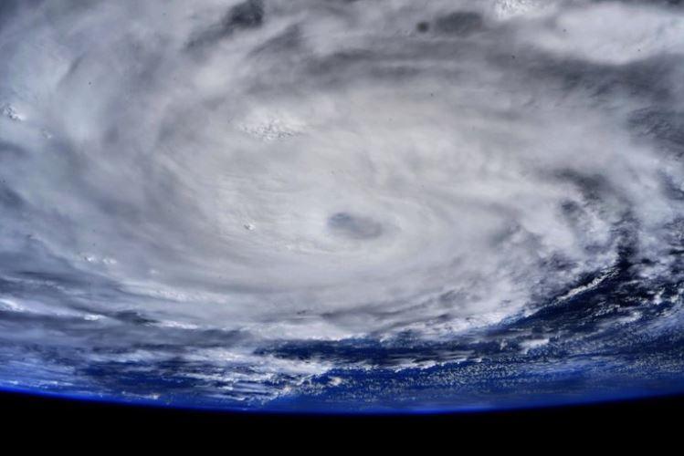 Estación Espacial Internacional capturó impresionante foto del huracán Hanna